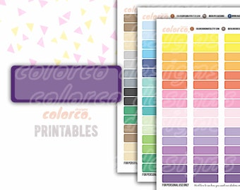 QUARTER box appointment stickers Printable Planner Stickers Erin Condren Happy Planner Inkwell Plum Paper Instant Digital Download