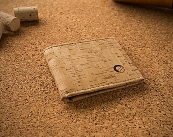 Eco Friendly Wallet for Men Made from Cork - Vegan Wallets for Man - Gift Idea for Christmas - Eco-Friendly Cork Rustic Color (CK048)