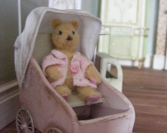 Toy stroller with teddy