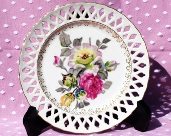 DISCOUNTED!!  Vintage Wales China Hand Painted Collectible Plate/ Wall Hanging