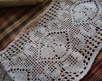 Vintage Cotton Cluny Lace Trim/3 yd. piece