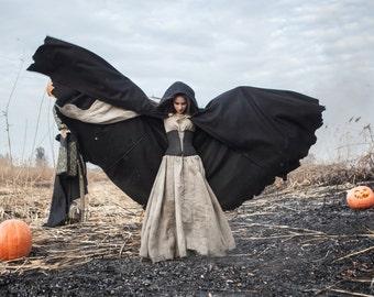 DISCOUNTED PRICE! Unisex Hooded Cloak; Halloween cloak; Woolen Cloak