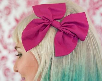 Large Purple Hair Bow