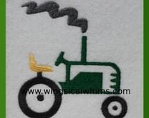 Tractor Farming Farm Embroidery Design Digitized