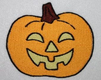 Pumpkin Jack O Lantern haloween digitized Machine Embroidery Design