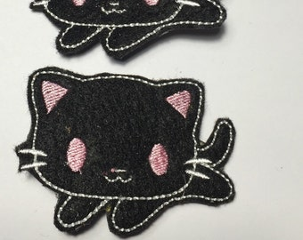 Kawaii Kitty Felt hair clips