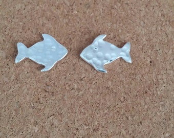 Fish Earrings Stud Earring Fish Stud Silver Fish Earrings Sterling Silver Fish