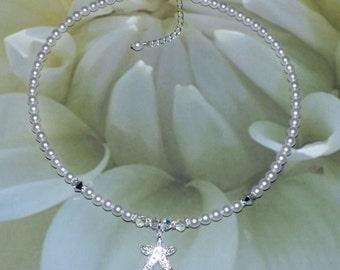 Rhinestone Necklace Starfish Bridal Jewelry Wedding Jewelry Bridesmaids Gift Bridal Shower Gift