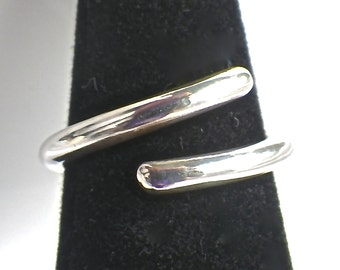 Sterling Silver 10 Gauge Ring Size 6