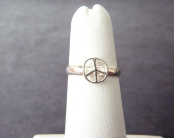 Sterling Silver Peace Sign Toe Ring T13