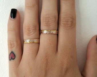 Mixed Metal Stacking Rings