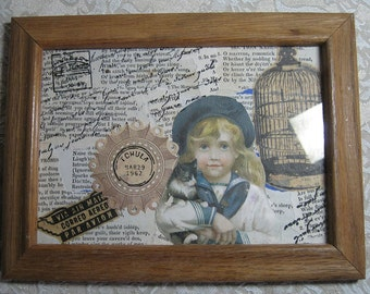 Victorian Collage, framed