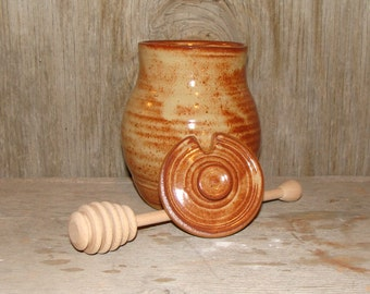 Rustic Brown Honey Pot