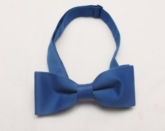 "Rare 90's Vintage ""MARVIN"" Size-Adjustable Royal Blue Evening/Party Bowtie"