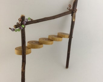 Miniature fairy garden stairs
