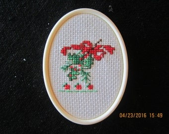 Boughs of Holly with Bow Christmas Tree Ornament