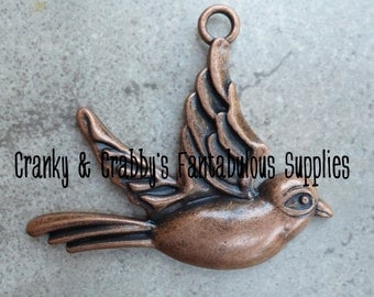 Copper Sparrow 50mm x 60mm   - Copper Finish   Pendant