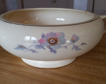 Bryn Mawr by Salem Footed Serving Bowl Floral Pattern China
