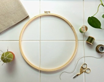 """EXTRA LARGE FRAME  - 10"""" Embroidery Wooden Hoop for big embroidery, crossstitch or quilting projects"""