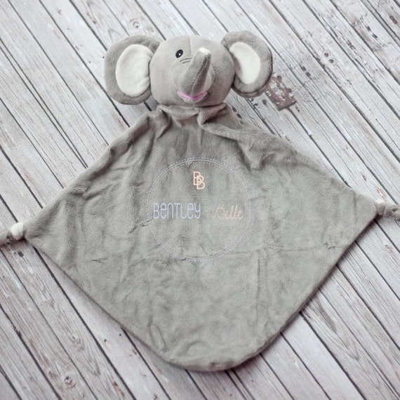 personalized elephant lovey monogrammed elephant lovey lovie
