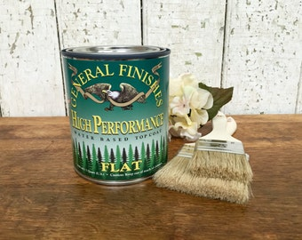 Best Top Coat - General Finishes High Performance Top Coat - Water Based Polyurethane - Wood Restoration - Clear Wood Finish - Paint Sealer