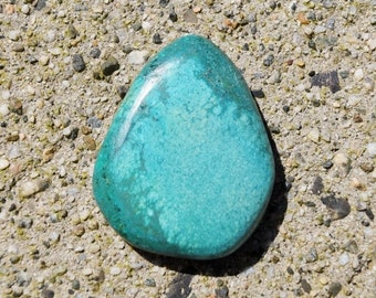 40% CLEARANCE SALE Turquoise Cabochon - 56ct - Natural Blue Green Tibetan Turquoise Gemstone - TQ 1 -