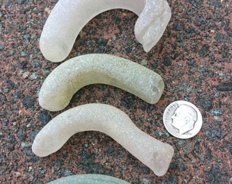 ENGLISH SEAGLASS - Group of  different Sized Beach Found Glass Handle Shards