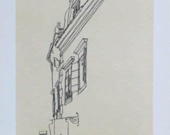 """Schiele Egon 53, Lithograph, """"Gabled Houses at Krumau"""""""
