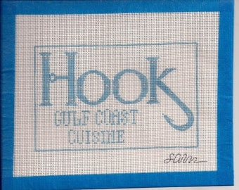 Hook Gulf Cost Cuisine Needlepoint Canvas Ornament