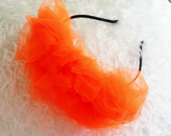 Orange Tulle Headband