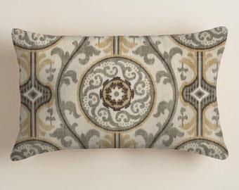 Brown Pillows -  Brown Lumbar Pillows - Lumbar Decorative Throw Pillow Cover Decor tan / brown . Cushion Covers Home  Decor