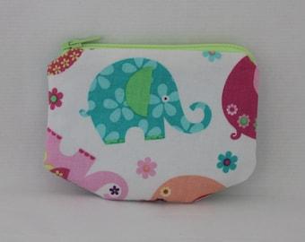 Elephant Zipper pouch, coin purse