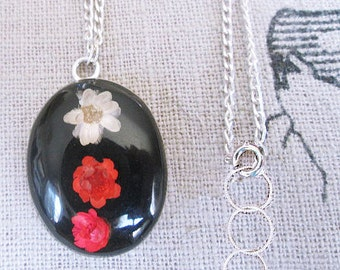 Choker necklaces, trendy silver choker cameo flower necklace, flower cameo choker, black cameo choker with red white flowers, flower chokers