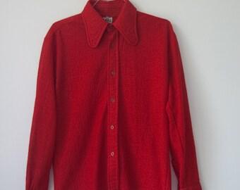 1960s Red Mod Shirt - M
