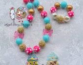 Shopkins Necklace Shopkins Bubblegum Necklace SHopkins Chunky necklace SHopping cupcake queen necklace cupcake chunky bubblegum necklace