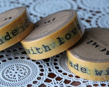 Scrapbook Supplies- 1 roll. Washi Tape. Handmade With Love - Little Laser Lab
