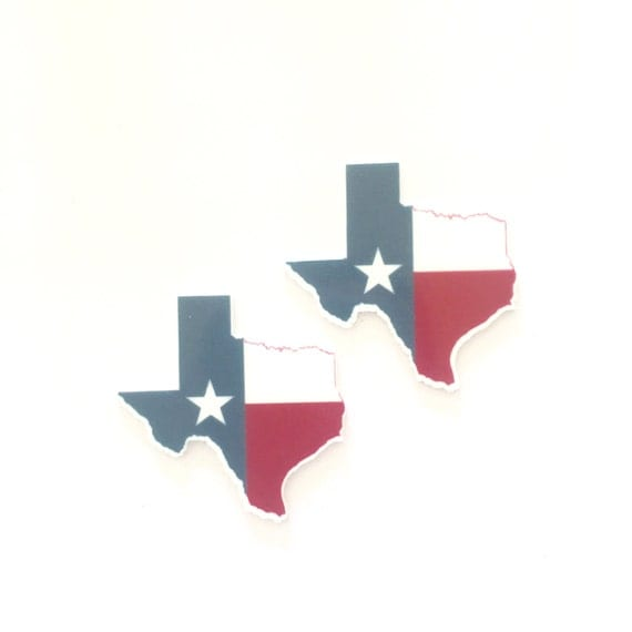 Laser Cut Supplies- 2 Pieces. 45mm America Texas State Charms - Laser Cut Acrylic - Jewelry Supplies-Little Laser Lab.Online Laser Cutting
