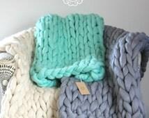 LAP BLANKETS! Extra fine, chunky yarn blanket, 100% merino wool, perfect gift, jumbo yarn