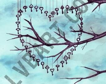 Key Tree Fine Art Print