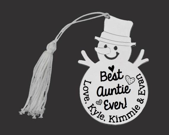 Personalized Ornament | Custom Ornament | Snowman Ornament | Personalized Christmas Ornaments | Aunt Gift | Auntie Gift | Korena Loves