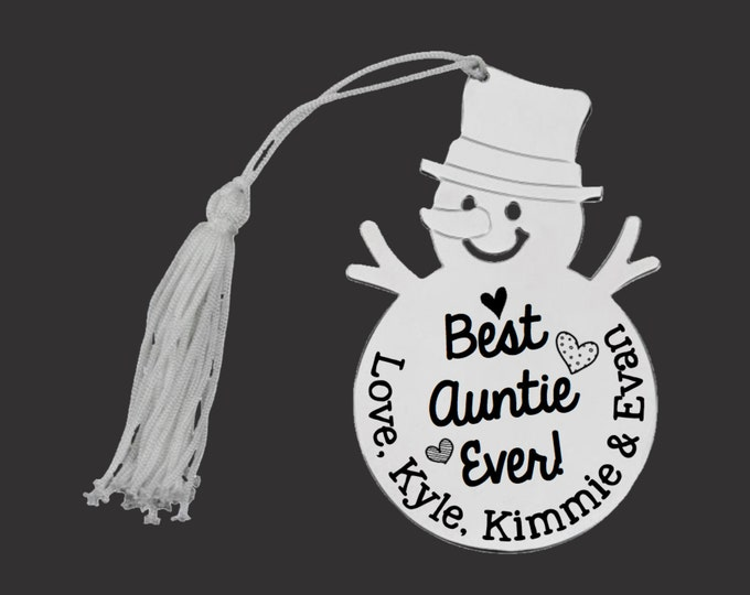 Personalized Ornament   Custom Ornament   Snowman Ornament   Personalized Christmas Ornaments   Aunt Gift   Auntie Gift   Korena Loves