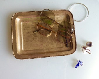 Vintage silver tray, patina , trinkets , silver plated,