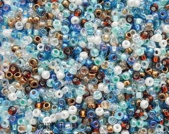 11/0 Miyuki Surf and Sand Mix Seed Beads - 15 grams - 2407 - Miyuki 11/0 Seed Beads - Color Mix-39 - Miyuki Surf and Sand Seed Bead Mix