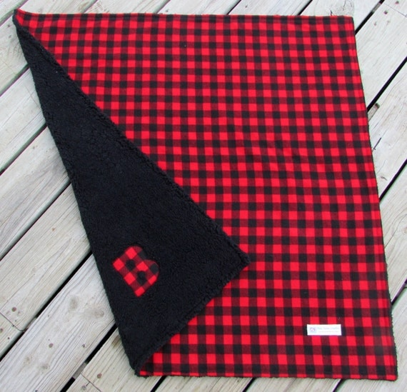 Buffalo Plaid Personalized Baby Blanket Lumberjack Boy Crib