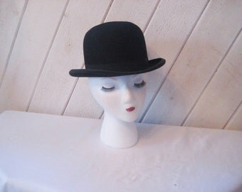 Top hat, Derby black hat, mens hat, hard felt hat, 1800s, Roelofs hat