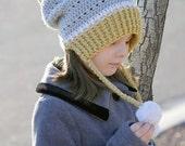 Crochet Pattern Hat Ear Flap Beanie Gracie PDF 16-219 INSTANT DOWNLOAD