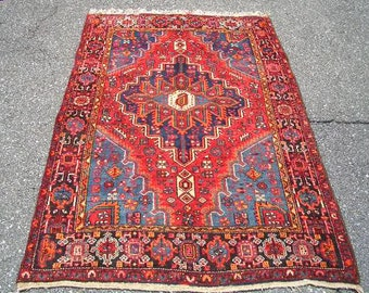 1970s Hand-Knotted Hamadan Persian Rug (3012)
