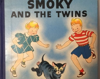 Smoky and the Twins by Dorothy Lee Beals, 1948 children's storybook adventures of little gray cat, for sale by Estate ReSale & ReDesign