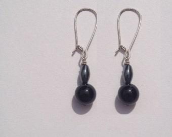 Vintage hemitite and black onyx