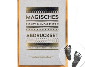 "Magic baby hand and foot print kit - ""big"" (140 x 210 mm) - no ink, no plaster!"